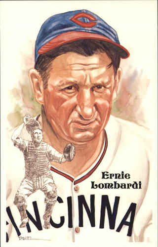 Photo of 1980-02 Perez-Steele Hall of Fame Postcards #195 Ernie Lombardi -- HOF Class of 1986