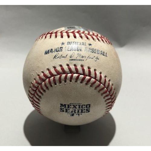 Photo of 2018 Mexico Series - Pitcher - Kirby Yates, Batter - Joc Pederson (Single) - 05/06/18