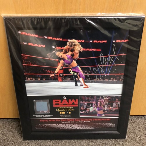 Photo of Bayley SIGNED RAW Signature Series Ring Canvas Plaque (#5 of 5)