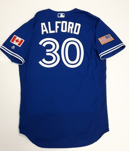 Photo of Authenticated Team Issued 2018 Independence Day Jersey (July 4, 2018) - #30 Anthony Alford. Size 46.