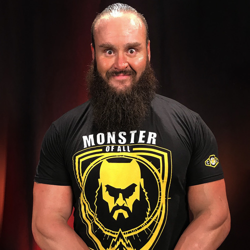Photo of Braun Strowman WORN & SIGNED Connor's Cure T-Shirt (Connor's Cure: RAW - 09/03/18)