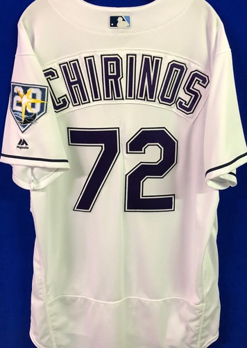 Photo of 20th Anniversary Game Used Devil Rays Jersey: Yonny Chirinos - March 31 v BOS and September 8 v BAL