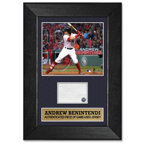 Photo of Andrew Benintendi Game-Used Jersey Plaque