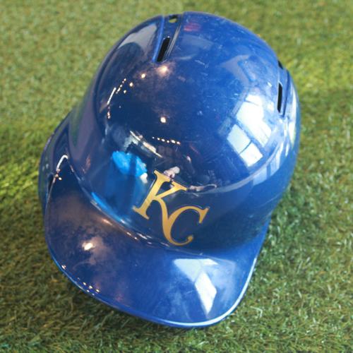 Photo of Game-Used Batting Helmet: Adalberto Mondesi (Size 7 3/8 - CLE@ KC - 9/28/18)