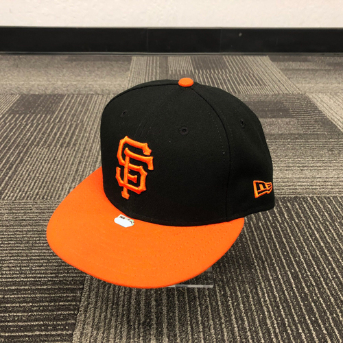 Photo of 2018 Team Issued Orange Bill Cap - #28 Buster Posey - Size 7 1/4