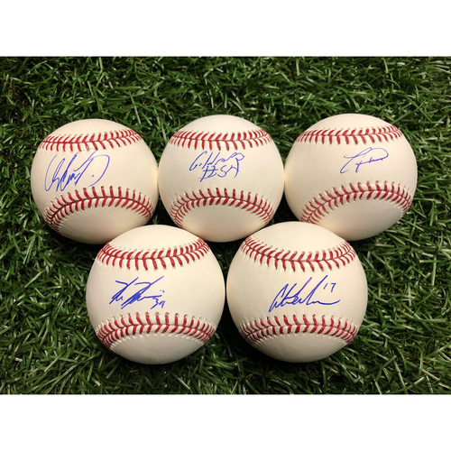 Photo of Rays Baseball Foundation: Outfielders Autograph Package - Garcia, Heredia, Kiermaier, Meadows, Pham