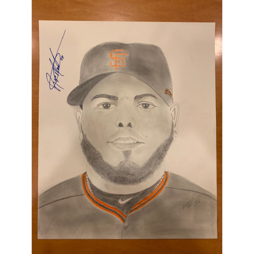 Photo of Giants End of Season Auction: Reyes Moronta Autographed Portrait Sketch