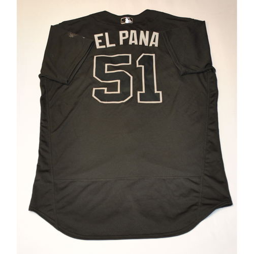 "Photo of Jaime ""EL PANA"" Barria Los Angeles Angels Game-Used 2019 Players' Weekend Jersey"