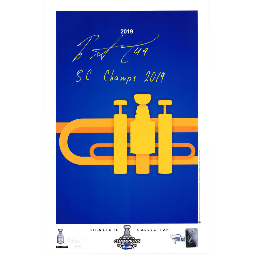 Ivan Barbashev St. Louis Blues 2019 Stanley Cup Champions Autographed 11