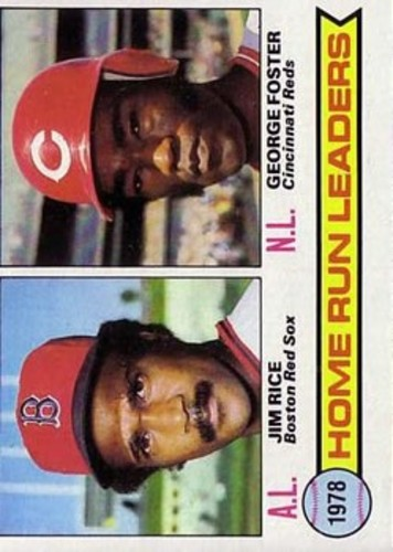 Photo of 1979 Topps #2 Home Run Leaders/Jim Rice/George Foster