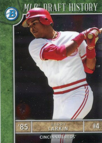 Photo of 2017 Bowman Chrome Draft MLB Draft History #MLBDBL Barry Larkin