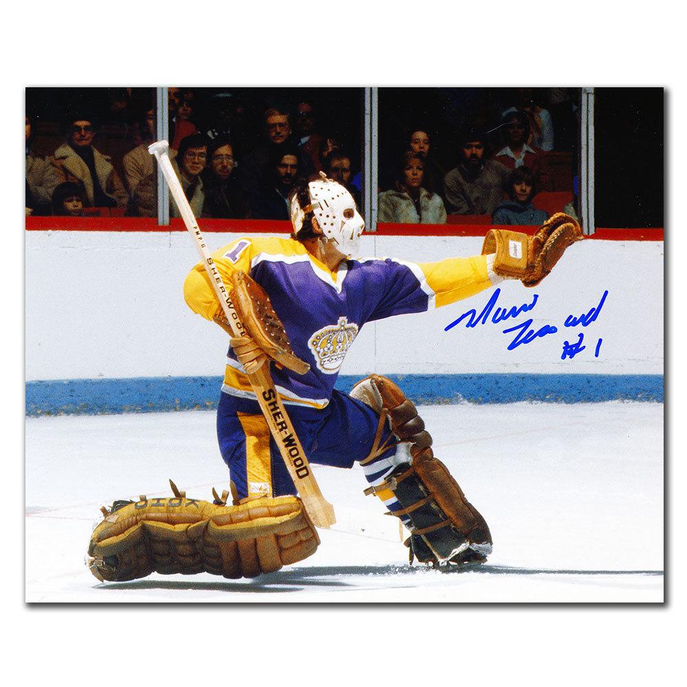 Mario Lessard Los Angeles Kings GLOVE SAVE Autographed 8x10