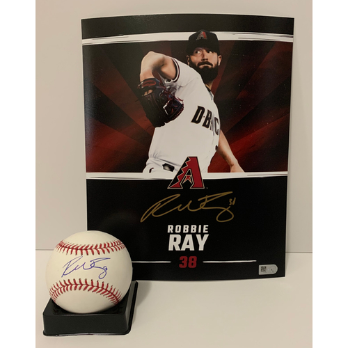 Photo of Robbie Ray Autographed 8x10 and Ball