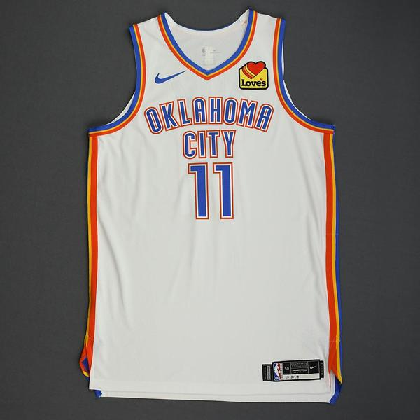 Image of Abdel Nader - Oklahoma City Thunder - Game-Worn Association Edition Jersey - Dressed, Did Not Play - 2019-20 NBA Season