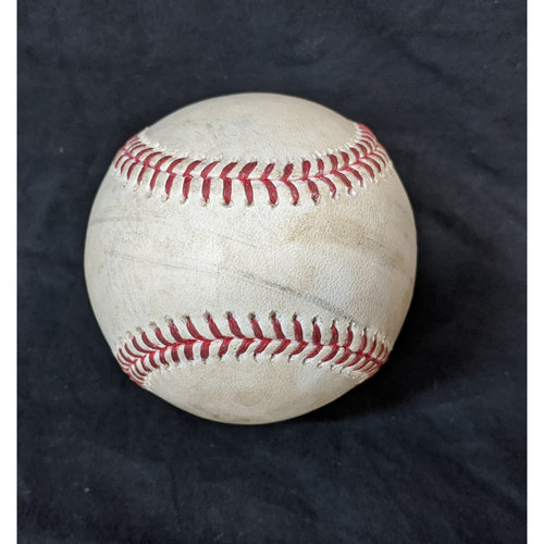 Photo of Game-Used Ball 8/10/20 Padres @ Dodgers: Pitcher: Dustin May; Batter: Austin Hedges (HOMERUN)