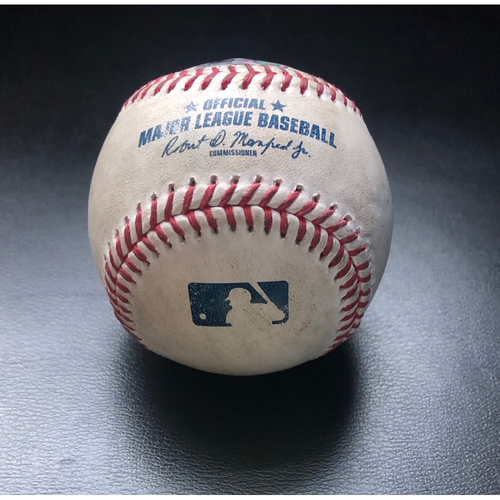 Photo of Game Used Baseball: Pitcher:  Taijuan Walker, Batter: Shohei Ohtani (Home Run)- Top 2nd (LAA @ SEA -8/6/2020)