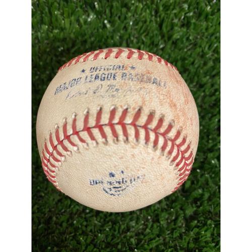 Photo of 2020 NL MVP & Silver Slugger: Freddie Freeman Game Used Hit Single Baseball - 7/29/20 Opening Day at Truist Park