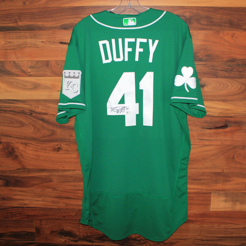 Photo of Autographed St. Patricks Day Jersey: Danny Duffy (Size 46)
