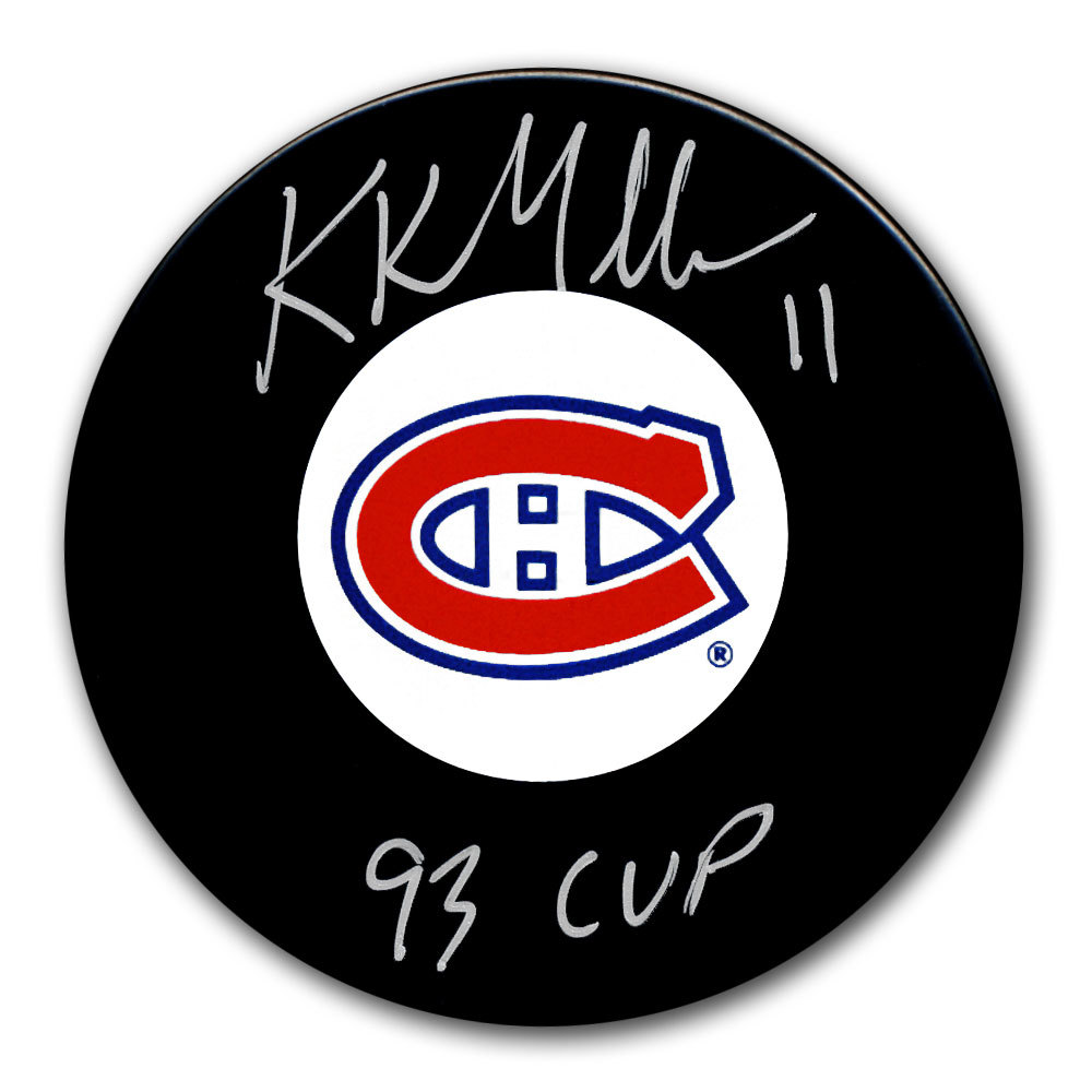 Kirk Muller Montreal Canadiens 1993 Cup Autographed Puck