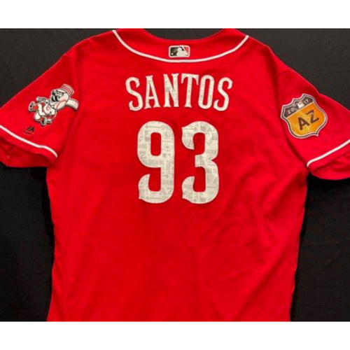 Photo of SANTOS -- Authentic Reds Jersey -- $1 Jersey Auction -- $5 Shipping -- Size 46 (Not MLB Authenticated)