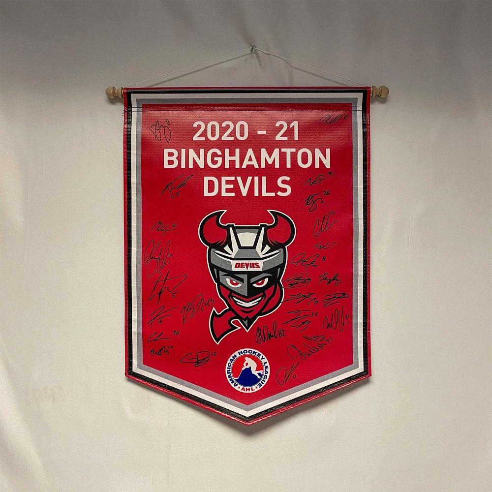 2020-21 Binghamton Devils Team-Signed Banner