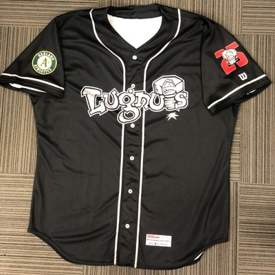 Lansing Lugnuts Game Worn Road Jersey 28 - Charlie Cerny - XL