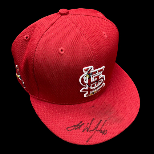 Photo of Jake Woodford Autographed Team Issued Batting Practice Cap (Size 7 1/2)