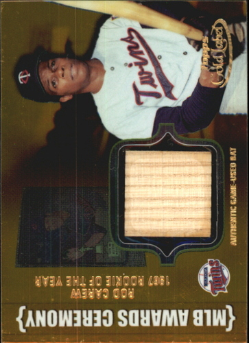 Photo of 2002 Topps Gold Label MLB Awards Ceremony Relics Gold #RC1 Rod Carew ROY Bat