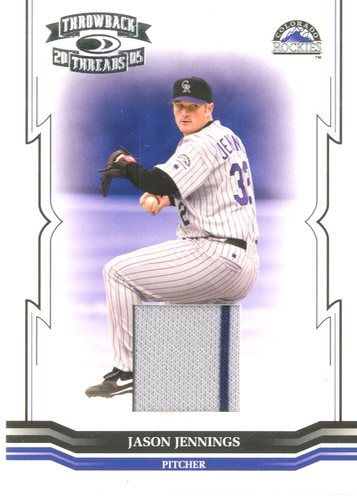 Photo of 2005 Throwback Threads Material Jersey #32 Jason Jennings/250