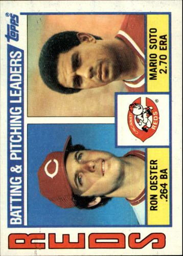 Photo of 1984 Topps #756 Reds TL/Ron Oester/Mario Soto/(Checklist on bac