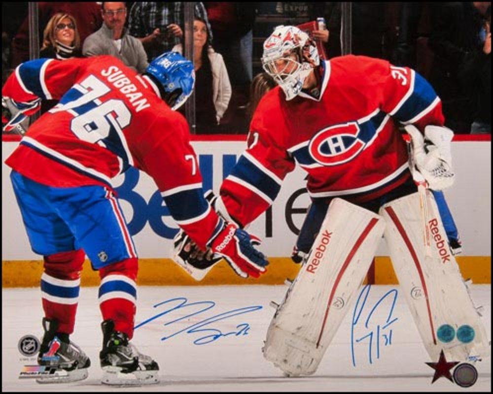 Carey Price & PK Subban Montreal Canadiens Signed Triple Low 5 16x20 Photo #/555