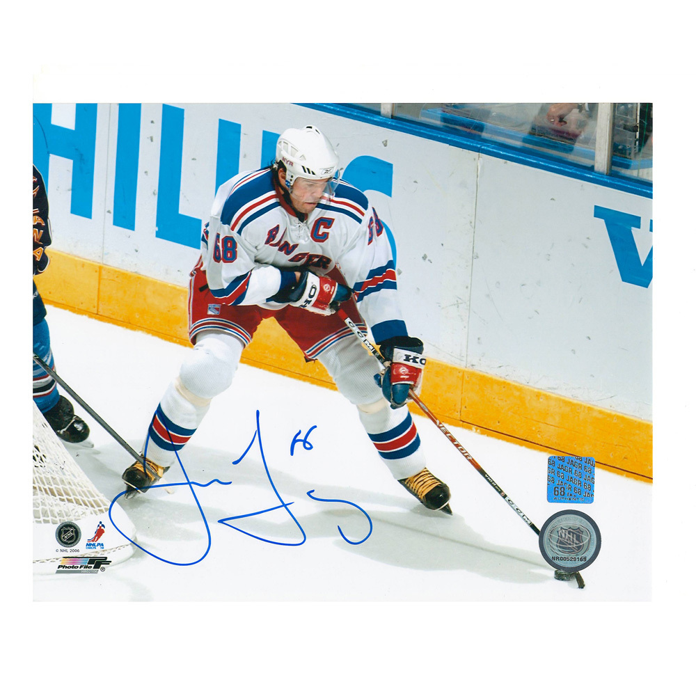 JAROMIR JAGR Signed New York Rangers 8 X 10 Photo - 70402