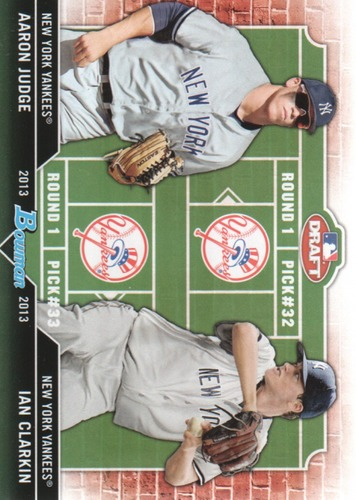 Photo of 2013 Bowman Draft Dual Draftee #JC Aaron Judge/Ian Clarkin