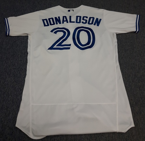 Authenticated Game Used Jersey - #20 Josh Donaldson: 5th Deck Home Run Game (May 30, 2017). Size 44.