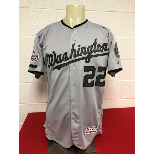 Game-Used Road Memorial Day Jersey: Juan Soto