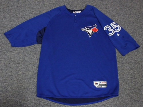 Photo of Authenticated Team Issued Batting Practice Jersey - #35 Dane Johnson. Size XL.