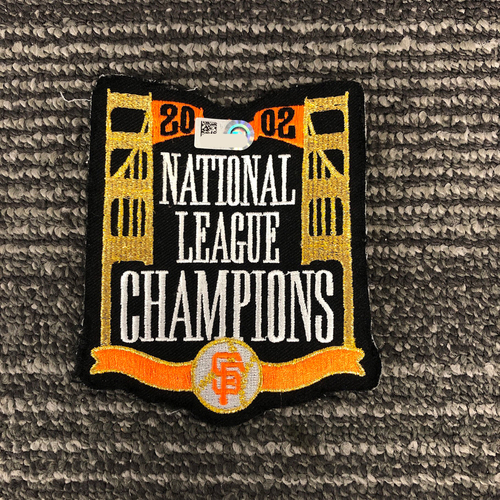 Photo of Team Issued Patch - 2002 National League Champions Patch