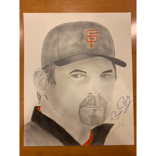 Photo of Giants End of Season Auction: Bruce Bochy Autographed Portrait Sketch