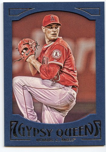 Photo of 2016 Topps Gypsy Queen Framed Blue #41 Garrett Richards