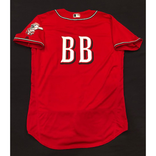 "Photo of Bat Boy -- Team-Issued ""Los Rojos"" Jersey -- D-backs vs. Reds on 9/6/19 -- Jersey Size 48"