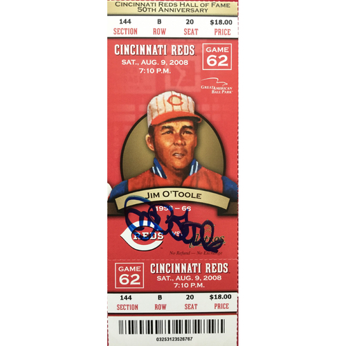 Photo of Jim O'Toole Signed Ticket