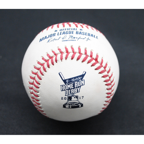 Photo of 2017 Home Run Derby (07/10/2017) - Game-Used Baseball - Giancarlo Stanton (Miami Marlins) - Round 1, Home Run #1