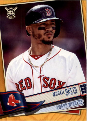 Photo of 2019 Topps Big League Gold #384 Mookie Betts