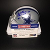 HOF - COWBOYS GIL BRANDT SIGNED COWBOYS MINI HELMET W/ TEAM OF THE 70'S INSCRIPTION