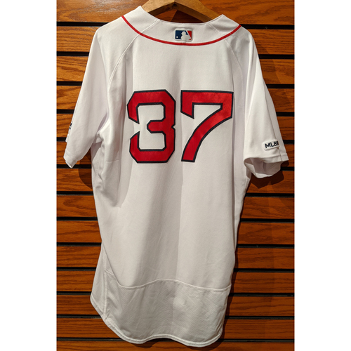 Photo of Heath Hembree #37 Game Used Home White Jersey