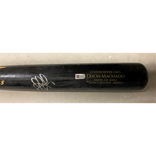 Photo of Dixon Machado Detroit Tigers Autographed Team-Issued Bat (MLB AUTHENTICATED)