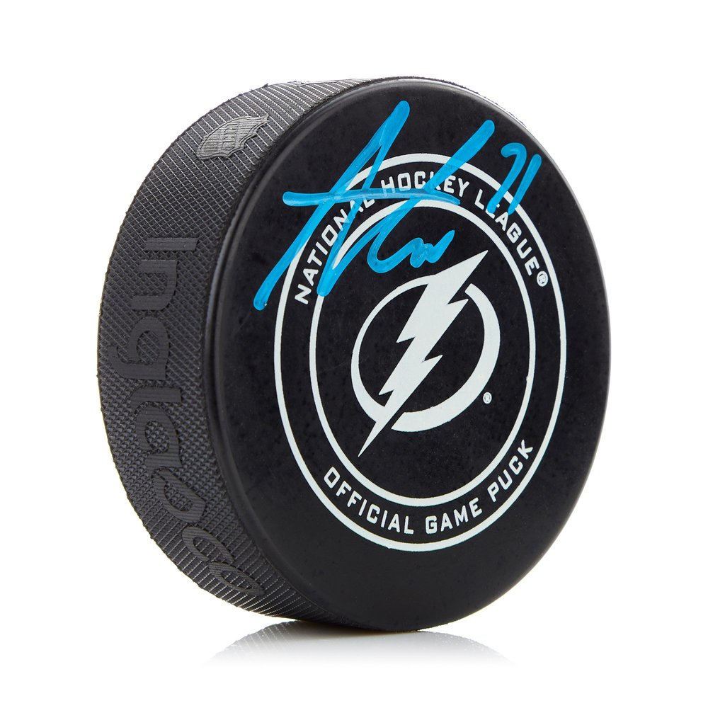 Anthony Cirelli Tampa Bay Lightning Signed Official Game Model Hockey Puck