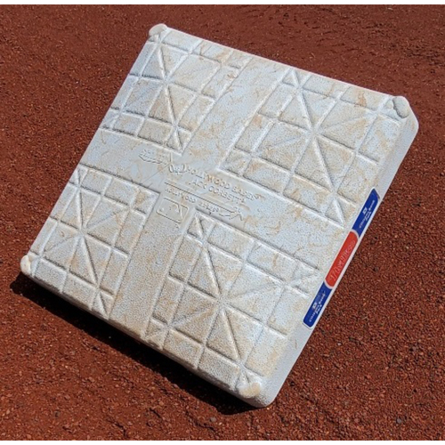 Photo of 2021 Phillies Game-Used 2nd Base - J.T. Realmuto 100th Career Home Run; Andrew McCutchen 350th Career Double