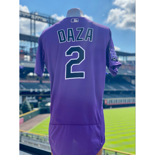 Photo of 2021 Game-Used Yonathan Daza Jersey - First Career Home-Run