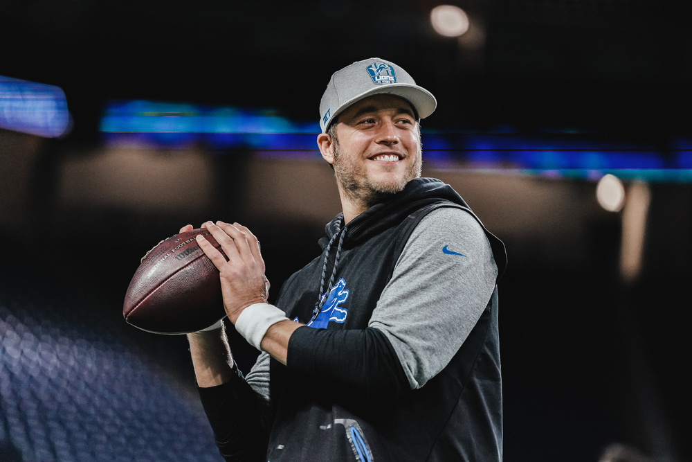 Lions - Matt Stafford Autographed Hat - Worn by Stafford during 2020 season (On Sideline and in pregame)